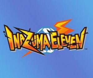 Puzzle de Logo de Inazuma Eleven. Videojuego de Nintendo y serie anime manga