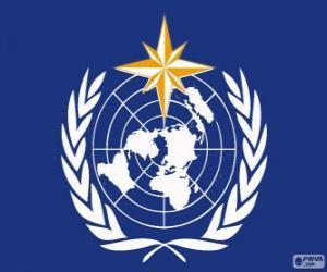 Puzzle de Logo de la OMM, Organización Meteorológica Mundial