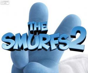 Puzzle de Logo de la película Los Pitufos 2, The Smurfs 2