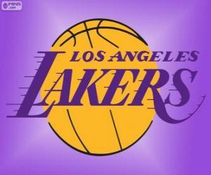 Puzzle de Logo de Los Angeles Lakers, equipo de la NBA, DivisiónPacífico,Conferencia Oeste