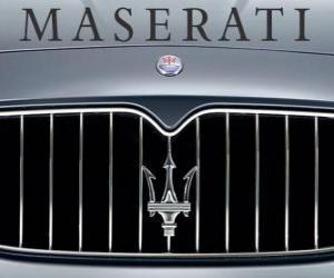 Puzzle de Logo de Maserati, marca italiana de coches deportivos
