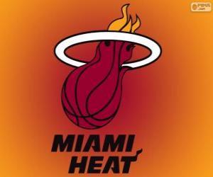 Puzzle de Logo de Miami Heat, equipo NBA. DivisiónSureste,ConferenciaEste