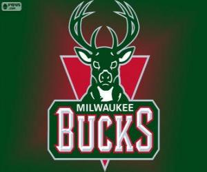 Puzzle de Logo de Milwaukee Bucks, equipo de la NBA. División Central, Conferencia Este
