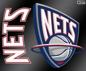 Puzzle de Logo de New Jersey Nets, equipo de NBA. DivisiónAtlántico,ConferenciaEste