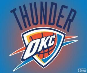 Puzzle de Logo de Oklahoma City Thunder, equipo NBA. DivisiónNoroeste,Conferencia Oeste
