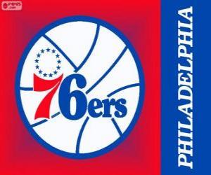 Puzzle de Logo de Philadelphia 76ers, Sixers, equipo NBA. DivisiónAtlántico,ConferenciaEste