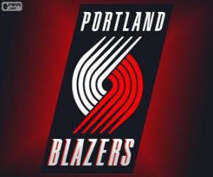 Puzzle de Logo de Portland Trail Blazers, equipo de la NBA. DivisiónNoroeste,Conferencia Oeste