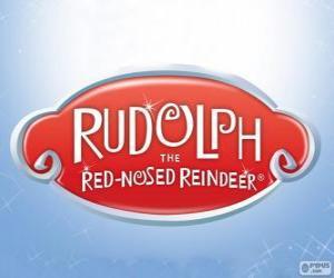 Puzzle de Logo de Rodolfo el reno de la nariz roja