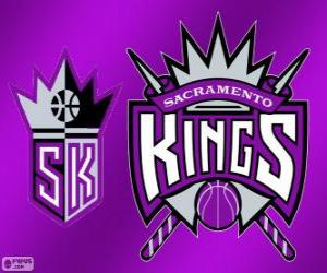 Puzzle de Logo de Sacramento Kings, equipo de la NBA. DivisiónPacífico,Conferencia Oeste