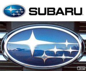 Puzzle de Logo de Subaru, marca japonesa de coches