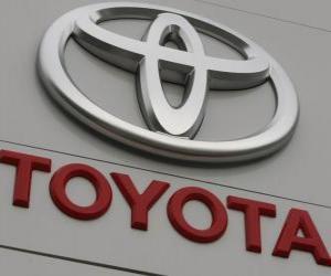 Puzzle de Logo de Toyota. Fabricante de automóviles japonés