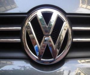 Puzzle de Logo de Volkswagen, marca de coches alemana