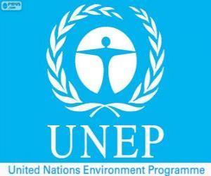 Puzzle de Logo PNUMA, Programa de las Naciones Unidas para el Medio Ambiente