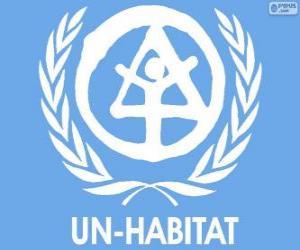 Puzzle de Logo UN-HABITAT, Programa de Naciones Unidas para los Asentamientos Humanos