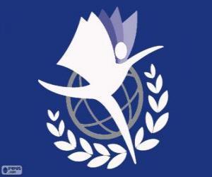 Puzzle de Logo UNITAR, Instituto de las Naciones Unidas para la Formación y la Investigación