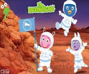 Puzzle de Los Backyardigans astronautas han llegado a Marte