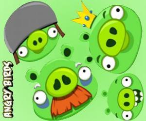 Puzzle de Los cerdos de Angry Birds
