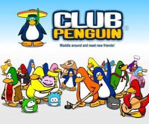 Puzzle de Los divertidos pingüinos del Club Penguin