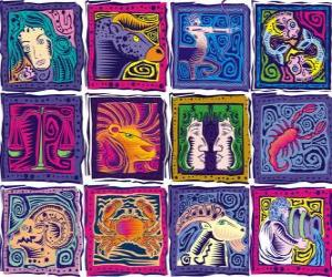 Puzzle de Los doce signos del zodíaco