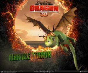 Puzzle de Los dragones más pequeños son los Terror Terrible que acostumbran a encontrarse en bandadas