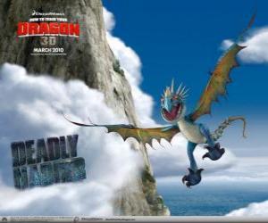 Puzzle de Los dragones Nader Mortífero son rápidos y ágiles en el aire y pueden volar grandes distancias