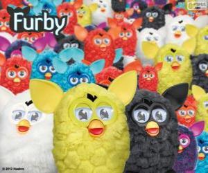Puzzle de Los Furbys, un juguete electrónico