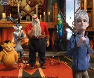 Puzzle de Los Guardianes inmortales unen sus fuerzas para proteger los deseos, las creencias y la imaginación de los niños