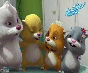 Puzzle de Los hámsters de Zhu Zhu Pets