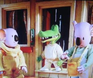 Puzzle de Los koalas Buster y Frank con su amigo el cocodrilo Archie