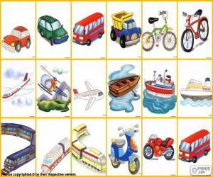 Puzzle de Los medios de transporte