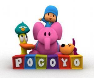 Puzzle de Los mejores amigos de Pocoyó son Pato, Elly, Loula y Pajaroto