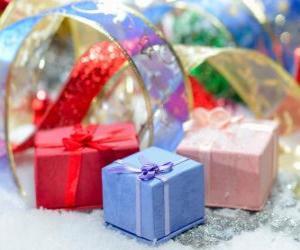 Puzzle de Los obsequios de Navidad muy bien presentados