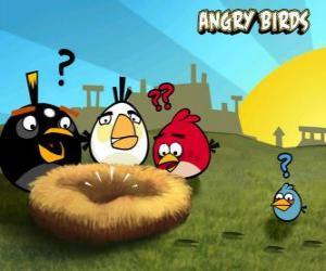 Puzzle de Los pájaros descubren que alguien les ha robado los huevos del nido