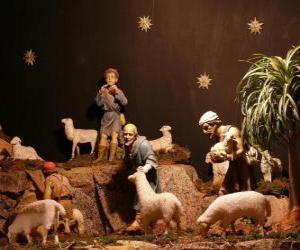 Puzzle de Los pastores personajes del belén