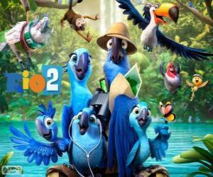 Puzzle de Los personajes principales de la película Rio 2