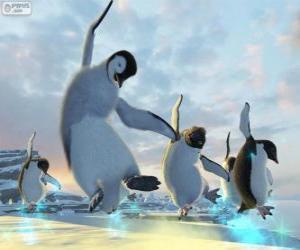 Puzzle de Los pingüinos que bailan en las películas de Happy Feet