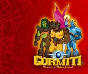 Puzzle de Los poderosos Señores de la Naturaleza, los elegidos para salvar la isla de Gorm