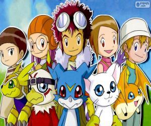 Puzzle de Los protagonistas de Digimon