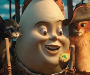 Puzzle de Los protagonistas, El Gato con Botas, Humpty y Kitty