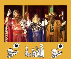 Puzzle de Los Reyes Magos, Melchor, Gaspar y Baltasar