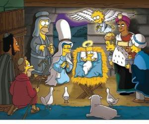 Puzzle de Los Simpson en el pesebre
