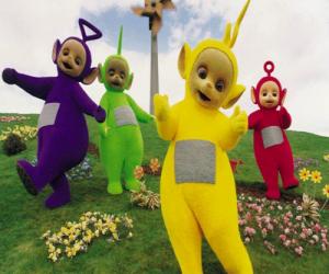 Puzzle de Los Teletubbies: Laa-Laa, Tinky Winky, Po y Dipsy
