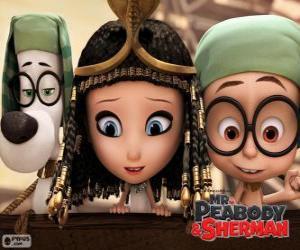 Puzzle de Los tres protagonistas de la película Mr. Peabody y Sherman