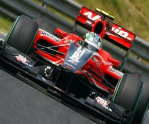 Puzzle de Lucas di Grassi - Virgin - Gran Premio de Hungría 2010