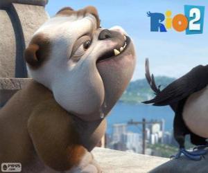 Puzzle de Luis en la película Rio 2