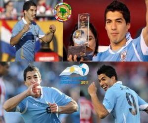 Puzzle de Luis Suárez mejor jugador de la Copa América 2011