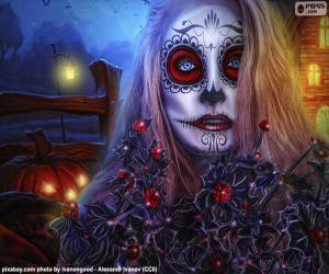 Puzzle de Máscara gótica de Halloween