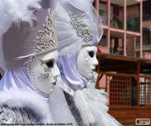 Puzzle de Máscaras  blancas