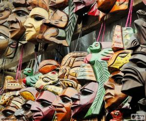 Puzzle de Máscaras Mayas