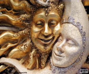 Puzzle de Máscaras del sol y la luna